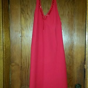 Evan Picone Red Halter Style Formal Gown Sz 10